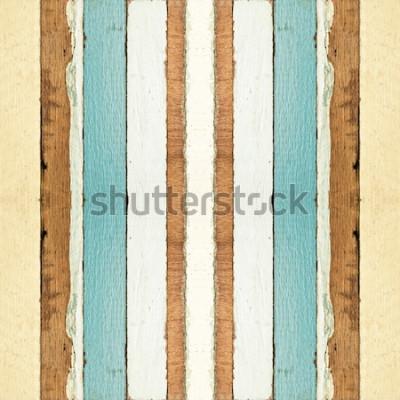 Fototapet Färgrik sömlös gammal träplankatextur, kan användas för bakgrund