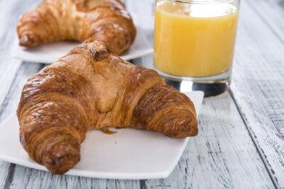 Fototapet Färska bakade croissanter