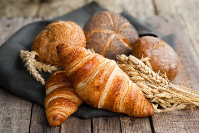 Fototapet färska croissanter