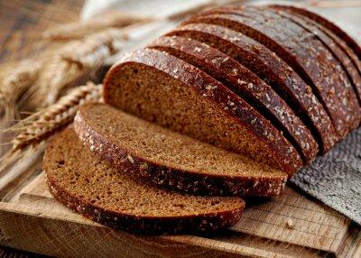Fototapet färskt rågbröd