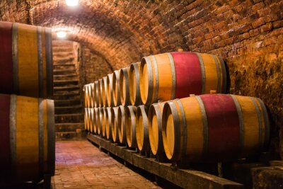 Fototapet Fina mottagare för de finaste vin