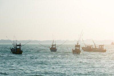 Fototapet fiskebåtar
