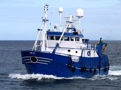 Fototapet Fiskefartyg 15b, fiskefartyg pågår för att hysa att landa fisk.