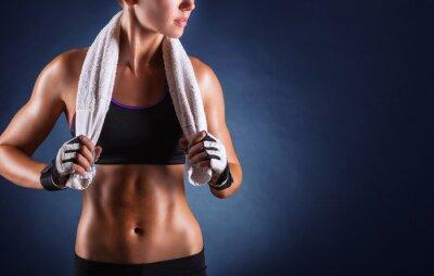 Fototapet fitness kvinna