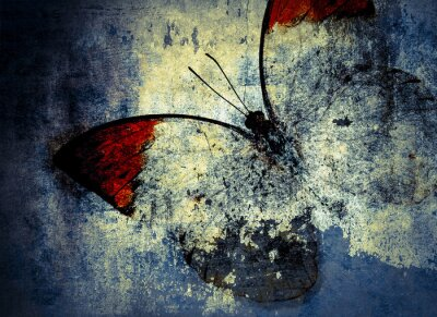 Fototapet fjäril
