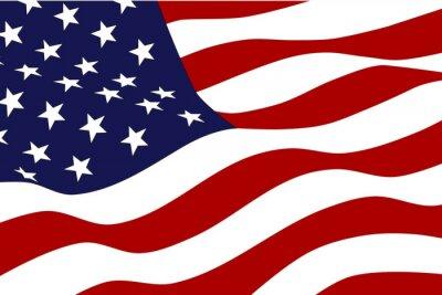 Fototapet Flag of America