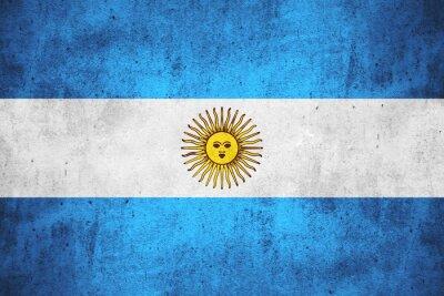 Fototapet flagga i Argentina