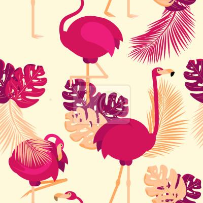 Fototapet Flamingos Poses