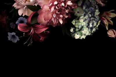 Fototapet Floral card. Vintage flowers.