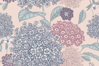 Fototapet Floral pastel color background. Vintage seamless pattern. Vintage. Vector.
