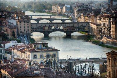 Fototapet Florens Ponte Vecchio solnedgången