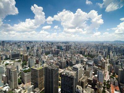 Fototapet Flygfoto av Anhangabau Valley, Sao Paulo, Brasilien