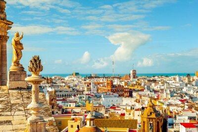 Fototapet Flygfoto över Cadiz, Spanien