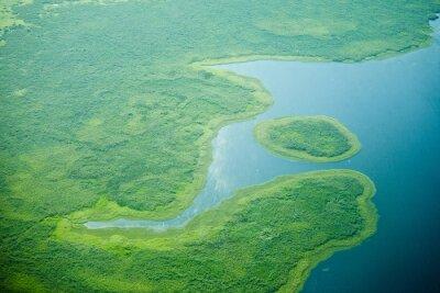 Fototapet Flygfoto över Nilen