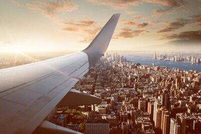 Fototapet Flygning över New York