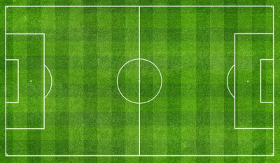 Fototapet football  field top view