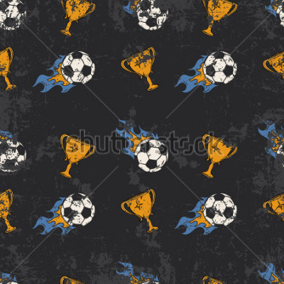 Fototapet Football pattern
