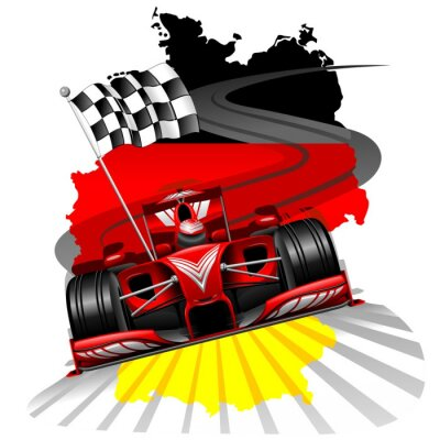 Fototapet Formel 1 GP Tyskland