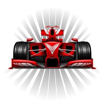 Fototapet Formel 1 Röd tävlings- bil