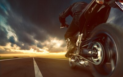 Fototapet fortkörning Motorcykel