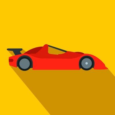 Fototapet Fortkörning racerbil platt ikon
