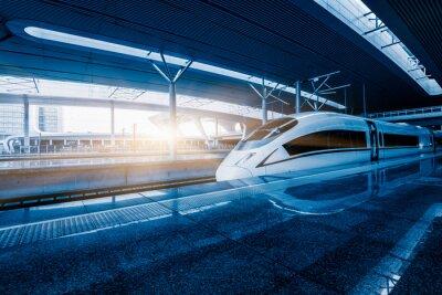 Fototapet fortkörning tåg