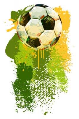 Fototapet Fotboll boll Banner. Alla delar är i separata lager och grupperas.