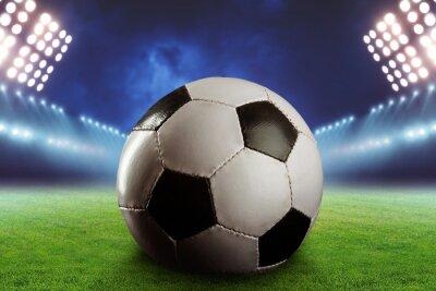 Fototapet Fotboll på fotbollsplanen