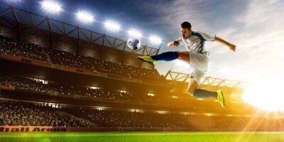 Fototapet Fotbollsspelare i aktion