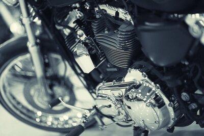 Fototapet fragment av en motorcykel