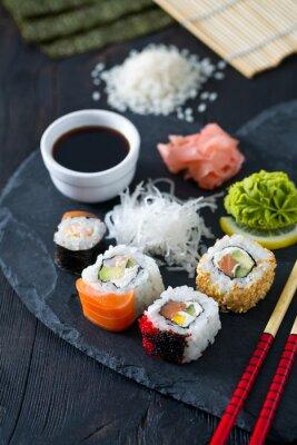 Fototapet framställning av sushi
