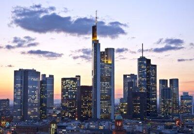 Fototapet Frankfurt der Dämmerung