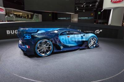 Fototapet Frankfurt, Deutschland - September 15, 2015: Bugatti Vision Gran Turismo Concept presenteras på 66th International Motor Show i Messe Frankfurt