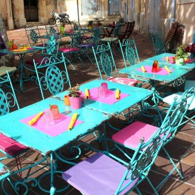 Fototapet Frankrike - Terrasse (Provence)