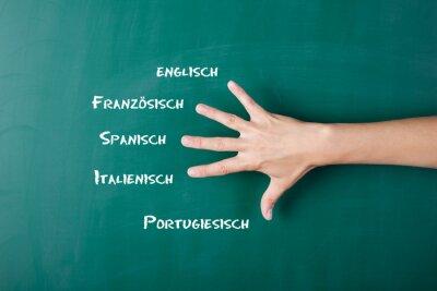 Fototapet fremdsprachen