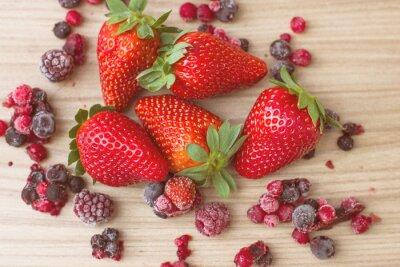 Fototapet Friska Röda frukter