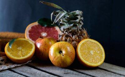 Fototapet Frukter på bordet