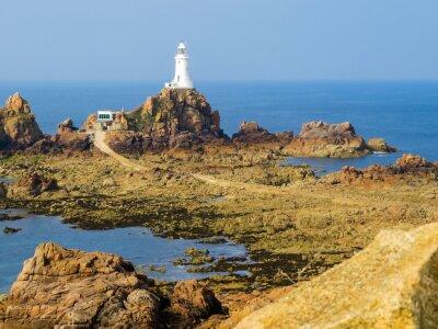 Fototapet Fyr på Jersey ön, Kanalöarna. selektiv inriktning