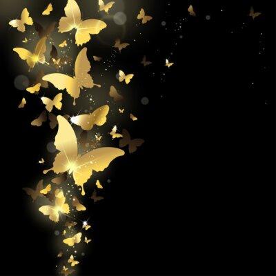 Fototapet fyrverkerier av fjärilar