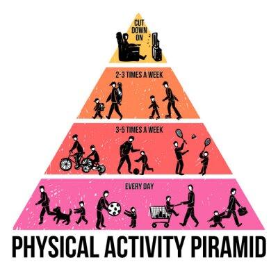 Fototapet Fysisk aktivitet Infographics