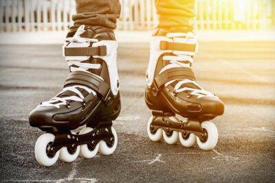 Fototapet gå på rullskridskor för skridskoåkning