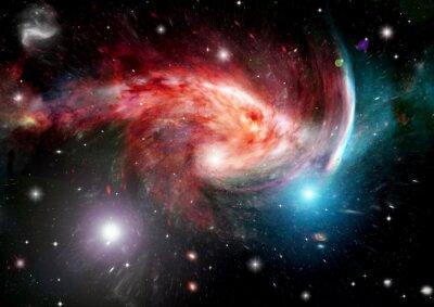 Fototapet galax i ett fritt utrymme