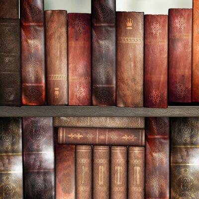 Fototapet Gamla böcker, bibliotek