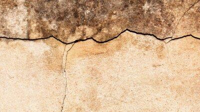 Fototapet Gamla knäckt vägg bakgrund