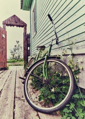 Fototapet Gamla retro cykel.