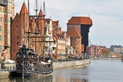 Fototapet Gamla stan i Gdansk