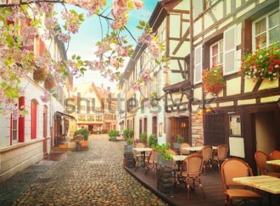 Fototapet gamla stan i Strasbourg, Frankrike