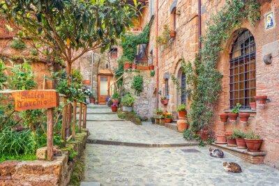Fototapet Gamla stan Toscana Italien