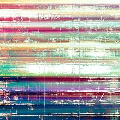 Fototapet Gammal abstrakt grunge bakgrund, åldrig retro textur. Med olika färgmönster: gul (beige); rosa; blå; vit; grön