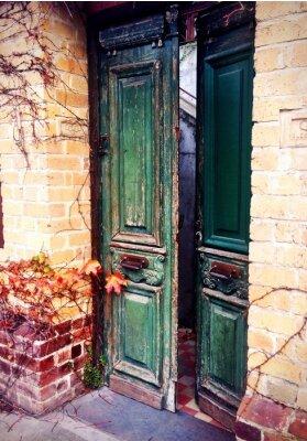 Fototapet gammal dörr öppen